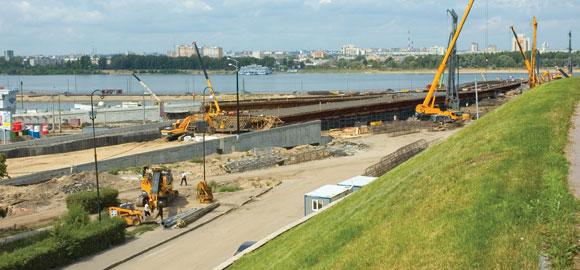 Казань Панорама будущего моста