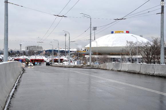въезд на мост со стороны центра