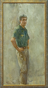 Н.Блохин портрет космонавта Крикалева