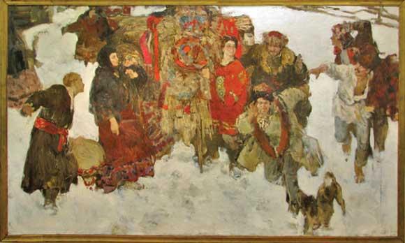 Н. Блохин Масленица. 1995