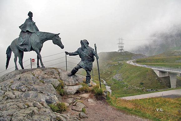 памятник Суворову на перевале Сен-Готард М.Тугаринов